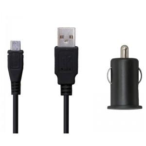 Køb 12V MicroUSB Charger Black 1.5meter 2.1A