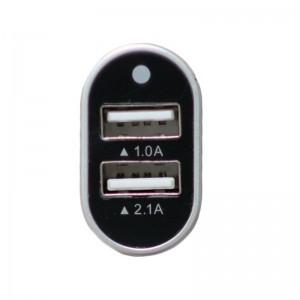 Køb 12V USB Charger 2.1A+1A Black