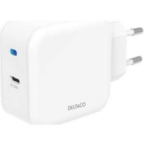 Køb Deltaco Wall Charger Usb-c Pd 30w, White – Oplader