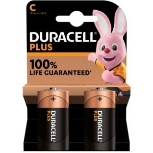 Køb Duracell Plus Power C, 2pk – Batteri