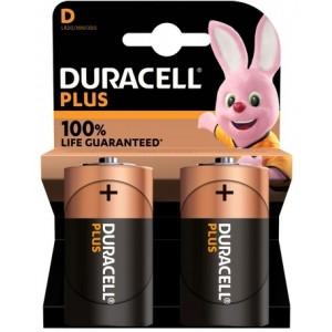Køb Duracell Plus Power D, 2pk – Batteri