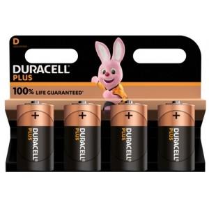 Køb Duracell Plus Power D, 4pk – Batteri