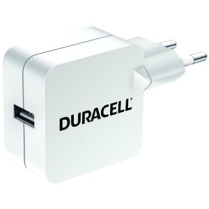 Hvid lader USB single Duracell