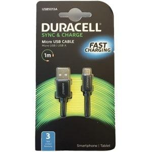 Køb Duracell Sort Micro USB kabel – 1 meter