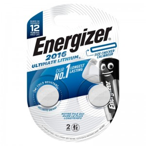 Køb Energizer Ultimate Lithium CR2016 2 pack – Batteri