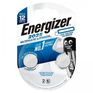 Køb Energizer Ultimate Lithium CR2025 2 pack – Batteri