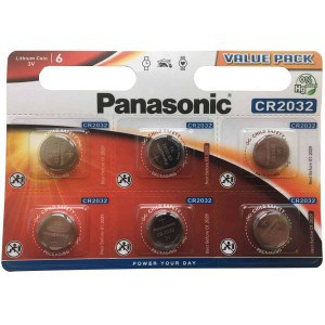 Image of   Panasonic CR2032 3V Lithium Knapbatteri - 6 stk.